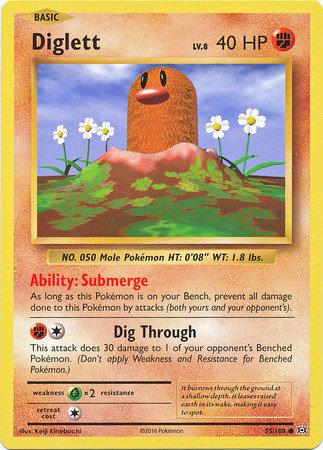 Pokemon Single Card XY - EVOLUTIONS - 055/108 : Diglett