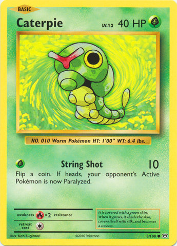 Pokemon Single Card XY - EVOLUTIONS - 003/108 : Caterpie