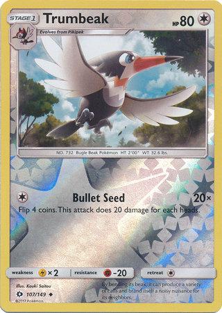 POKEMON Single Card SM - SUN & MOON BASE SET (Reverse Holo) - 107/149: Trumbeak
