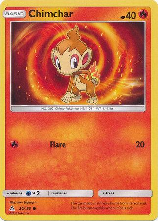 POKEMON Single Card SM - ULTRA PRISM - 020/156 : Chimchar