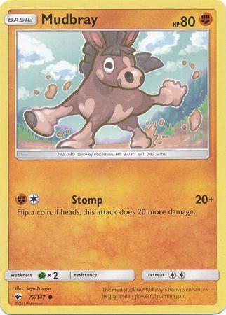 POKEMON Single Card SUN AND MOON - BURNING SHADOWS - 077/147 : Mudbray