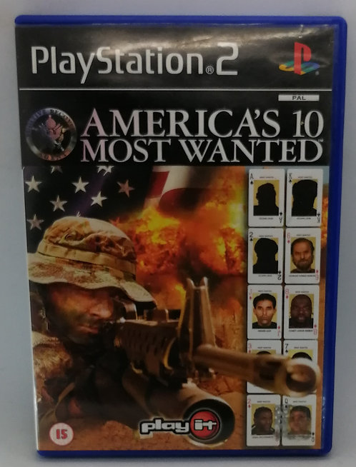 America's 10 Most Wanted for Sony PlayStation 2 PS2