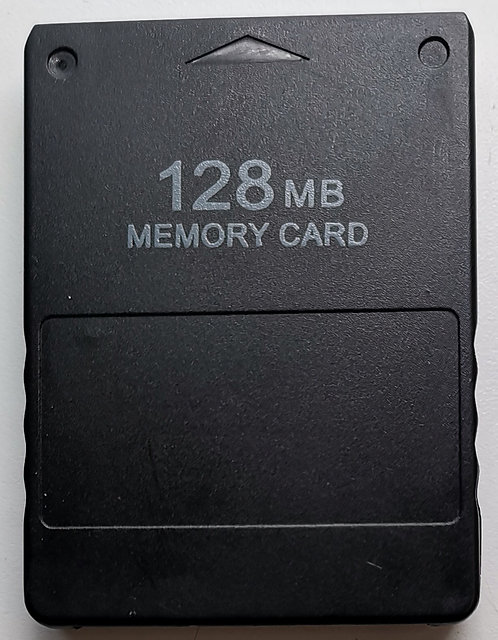 Generic 128MB Memory Card (Black) for Sony PlayStation 2 PS2