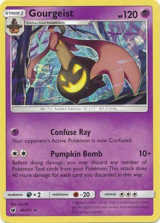 POKEMON Single Card SUN AND MOON - CRIMSON INVASION - 045/111 : Gourgeist