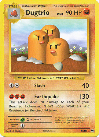 Pokemon Single Card XY - EVOLUTIONS - 056/108 : Dugtrio