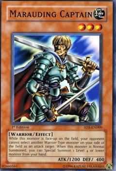 Yu-Gi-Oh! Card SD5-EN009 Marauding Captain 1st Edition