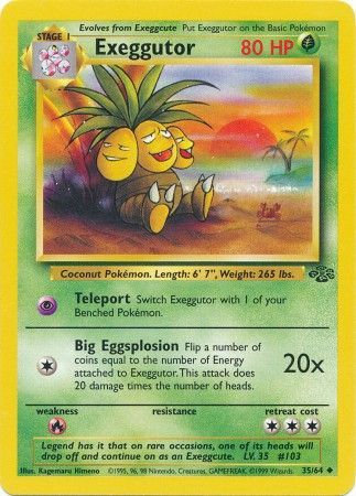 POKEMON Single Card JUNGLE - 35/64 : Exeggutor