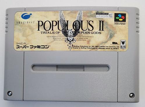 Populous II (2): Trials of the Olympian Gods for Nintendo Super Famicom