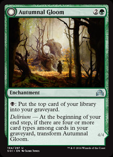 MAGIC THE GATHERING SHADOWS OVER INNISTRAD Card - 194/297 : Autumnal Gloom