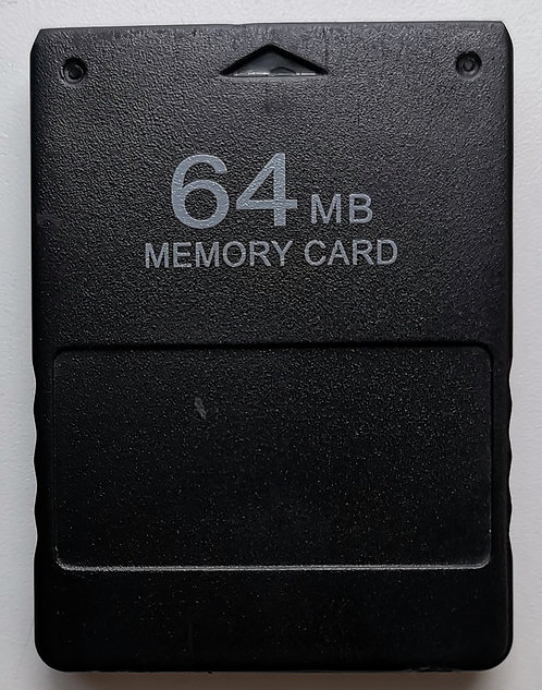 Generic 64MB Memory Card (Black) for Sony PlayStation 2 PS2