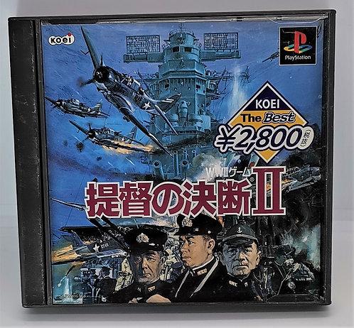 Teitoku no Ketsudan II (2) for Sony PlayStation PS1