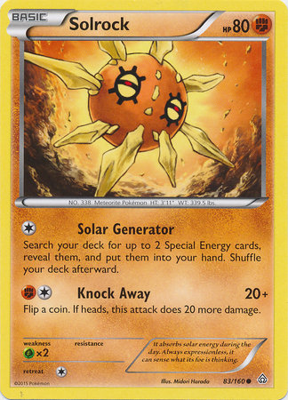 Pokemon Single Card XY - PRIMAL CLASH - 083/160 : Solrock