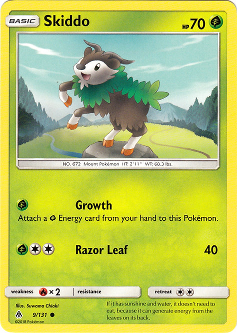 POKEMON Single Card SM - FORBIDDEN LIGHT - 009/131 : Skiddo