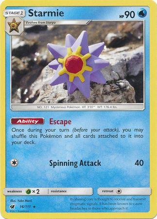 POKEMON Single Card SUN AND MOON - CRIMSON INVASION - 016/111 : Starmie
