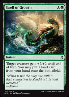 MAGIC THE GATHERING BATTLE FOR ZENDIKAR Card - 191/274 : Swell of Growth