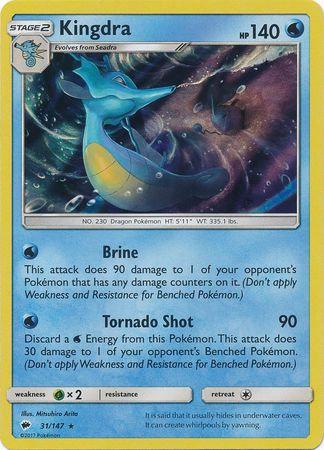 POKEMON Single Card SUN AND MOON - BURNING SHADOWS - (Holo) 031/147 : Kingdra