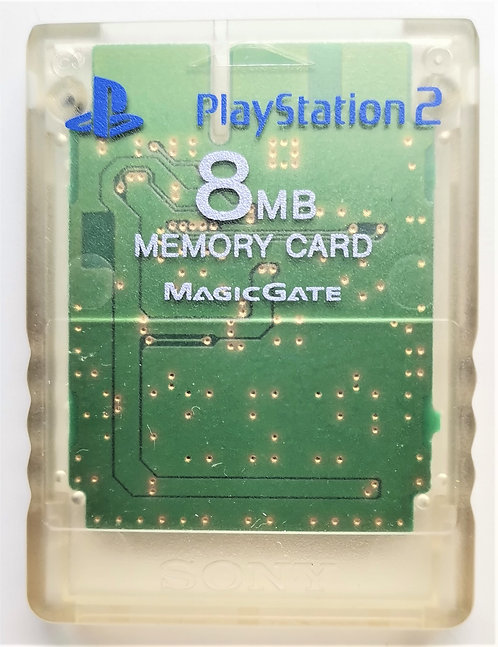 Official Sony Japanese 8MB Memory Card (Clear) for Sony PlayStation 2 PS2