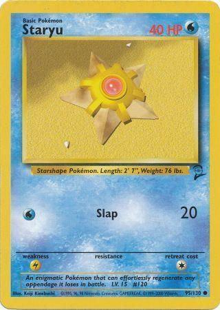 POKEMON Single Card BASE SET 2 - 095/130 : Staryu