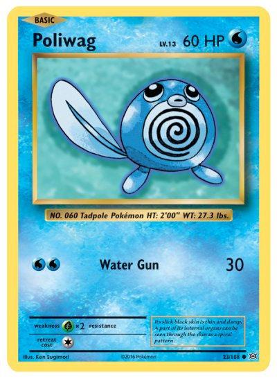 Pokemon Single Card XY - EVOLUTIONS - 023/108 : Poliwag