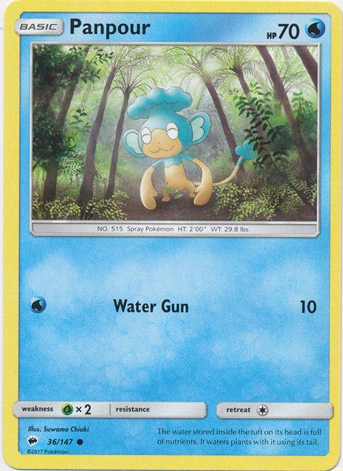 POKEMON Single Card SUN AND MOON - BURNING SHADOWS - 036/147 : Panpour