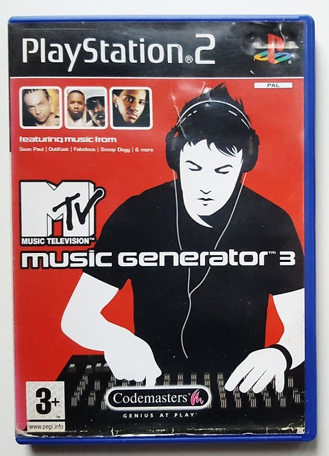 MTV Music Generator 3 for Sony PlayStation 2 PS2