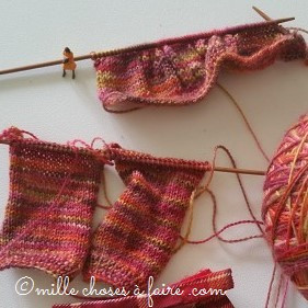 Tricoter à l'échelle des poupées....