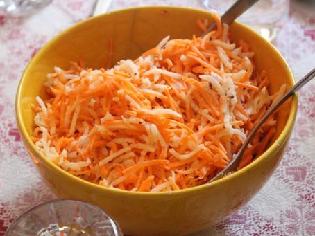 Insalata di carote e cavolo rapa