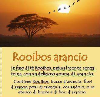 Tè Rooibos all'arancio