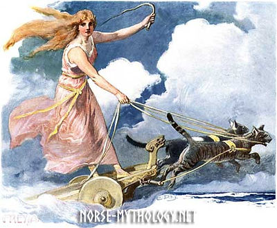 2freyja-freja-in-her-car-drawn-by-cats-n