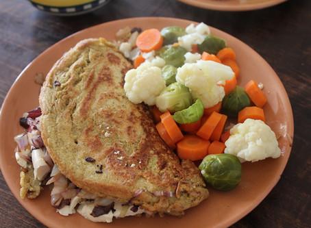 Omelette di ceci e grano saraceno