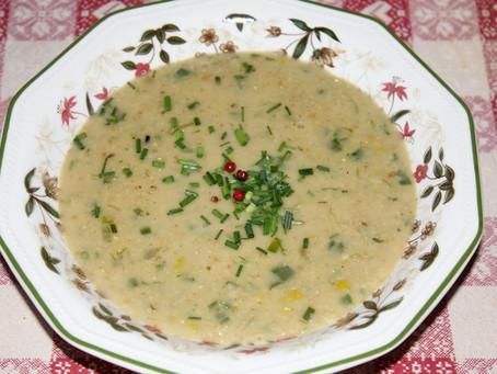 Zuppa di avena e porro