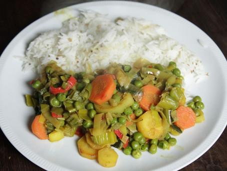 Curry indiano di verdura