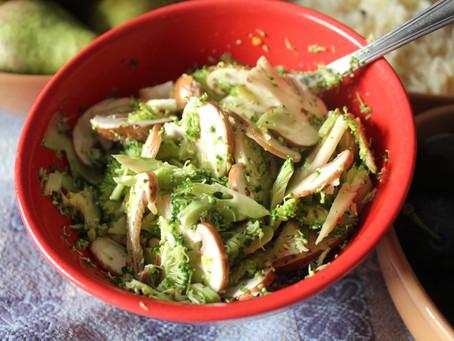 Insalata di broccoli e funghi