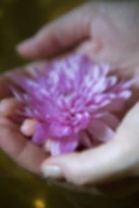 Fleur en main
