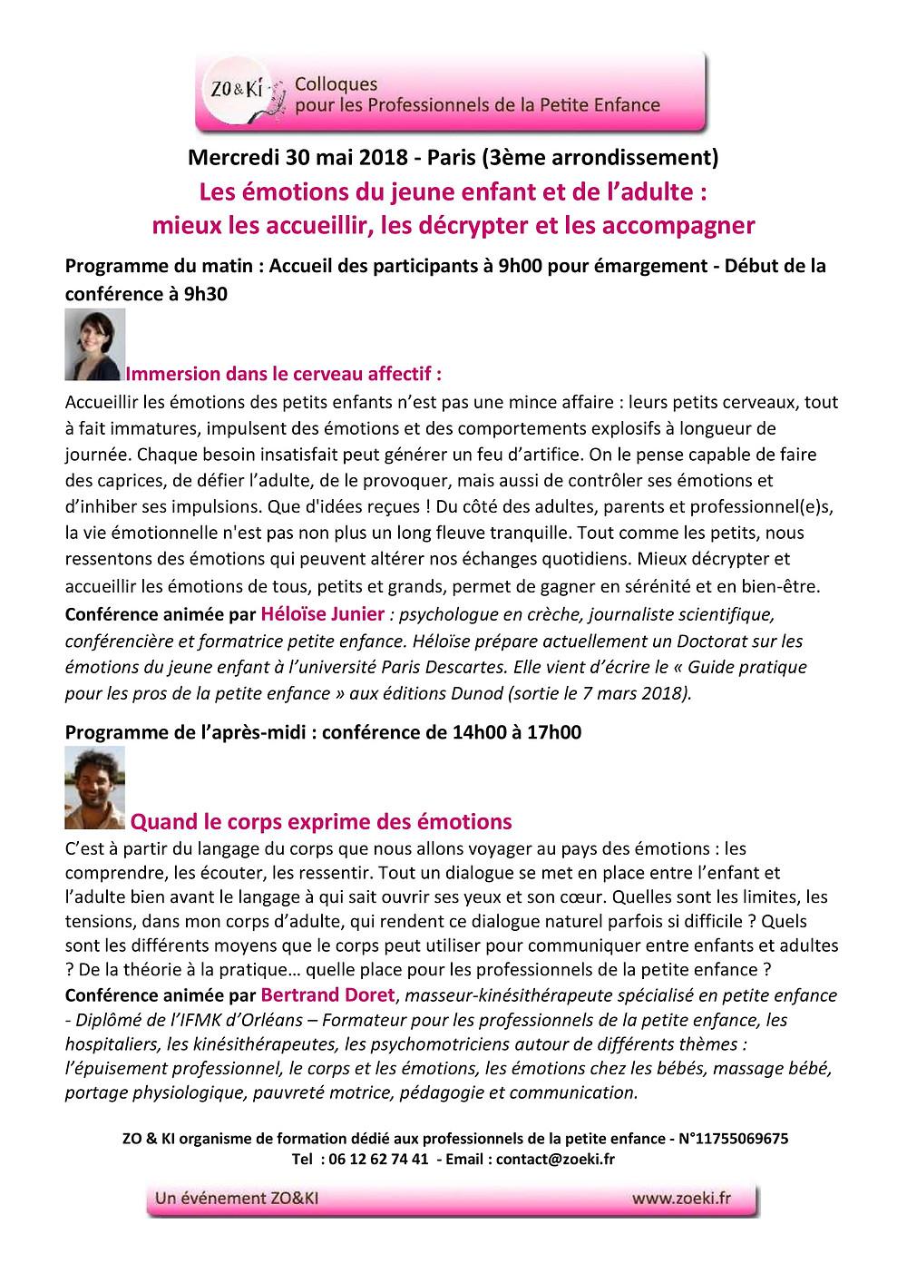 Conférence Zoeki Heloïse Junnier et Bertrand Doret