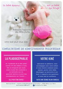 Affiche prévention Plagiocéphalie