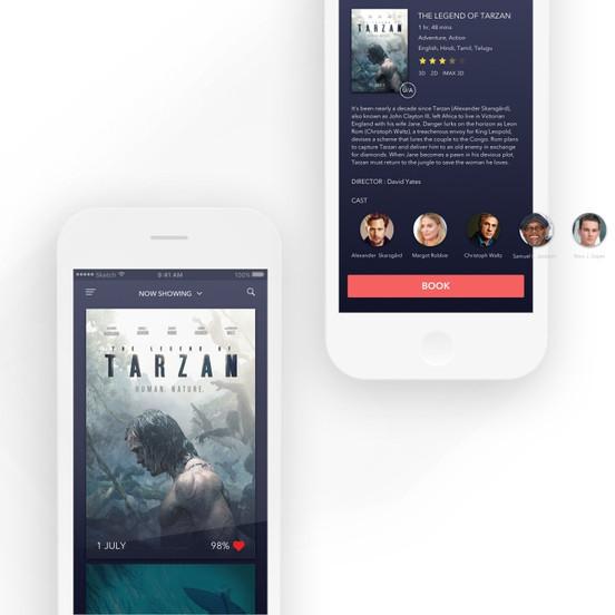 Movie listing - Concept