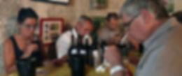 dégustation par le jury aux rencontres des cépages cévenols