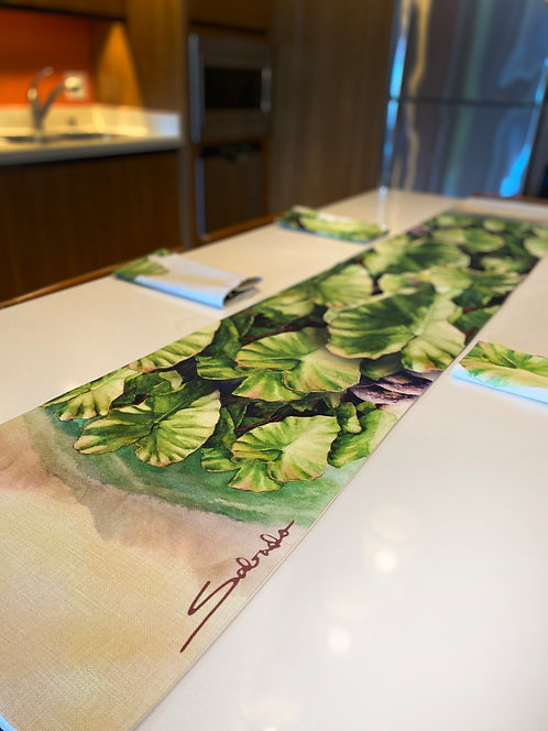 """Ke'anae Kalo"" Table Runner"