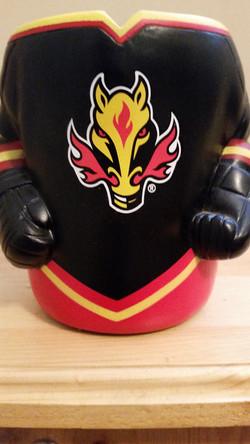 Calgary Flames Black Logo Koozie