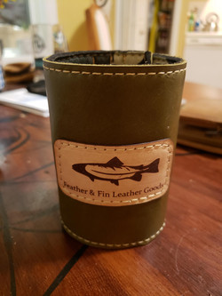 Feather and Fin Green Leather