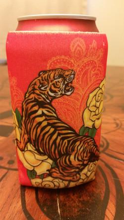 Tiger Can Koozie