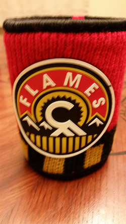 Calgary Flames Sweater Koozie