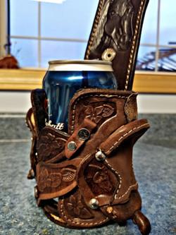 Leather Saddle Koozie