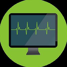 EKG on monitor icon