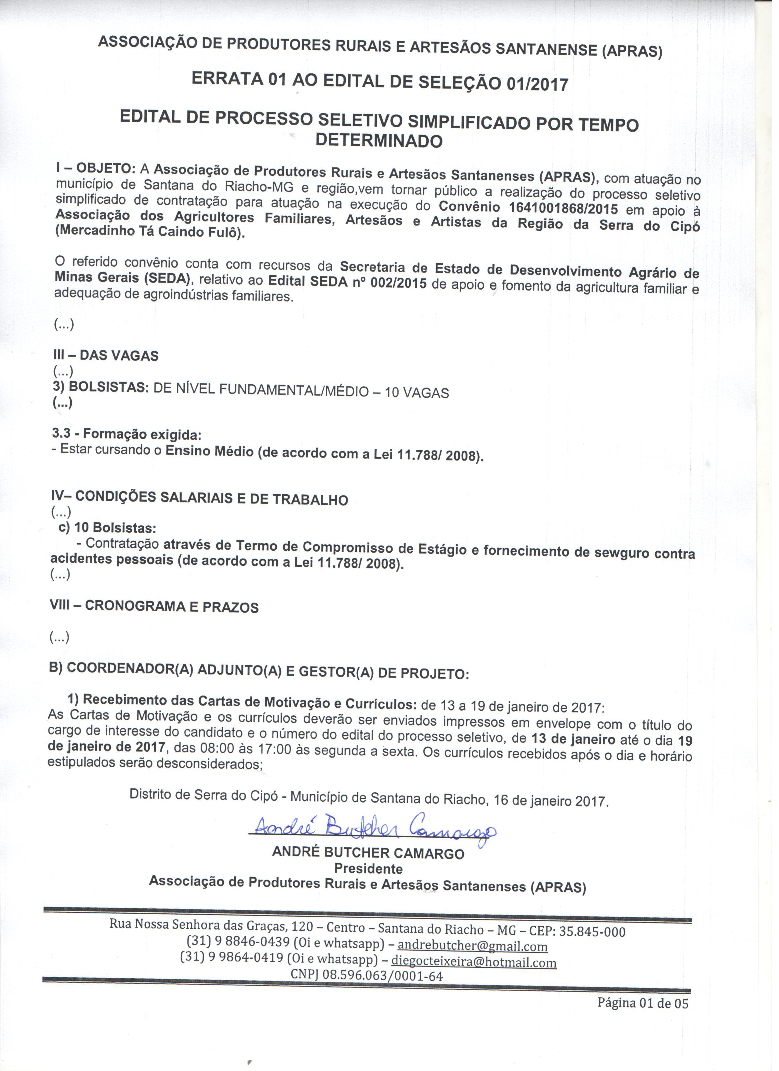 ERRATA 01 AO EDITAL DE SELEÇÃO 01 2017  2e340ae30530c