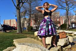 3 way Hi-Low Ankara Skirt