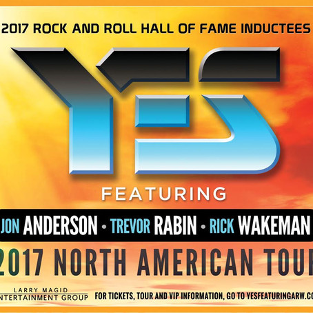 2017 Rock & Roll Hall Of Famer's  YES ft. Jon Anderson, Trevor Rabin and Rick Wakeman announ