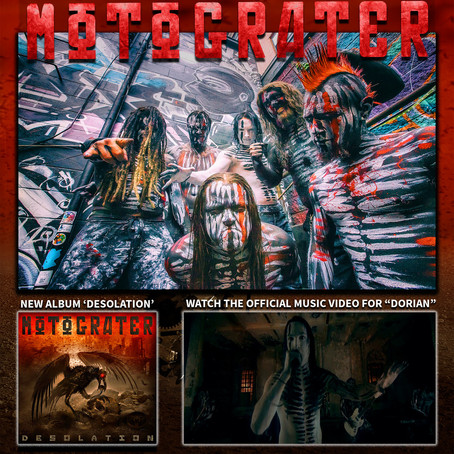 "MOTOGRATER premiere ""Dorian"" video via Loudwire! Massive US tour coming!"