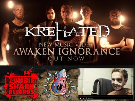 Sweden's KREHATED unleash new video 'Awaken Ignorance'; New album on Zombie Shark Record